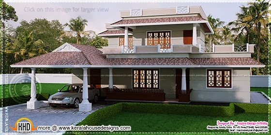 House Plans  4 bedroom Kerala style house in 300 square yards