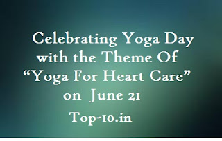 """Celebrating Yoga Day with the Theme Of  """"Yoga For Heart Care""""  on June 21"""