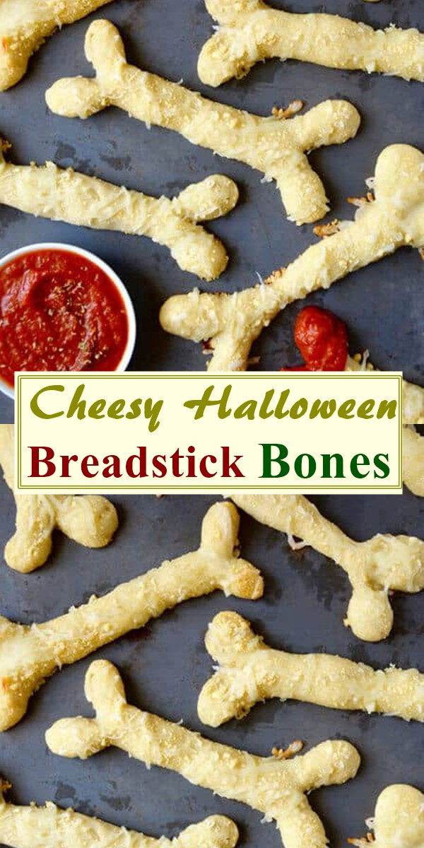 Cheesy Halloween Breadstick Bones #halloweenrecipes