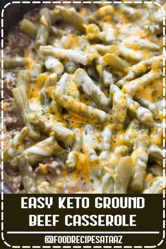"4.7 ★★★★★ | This is probably one of my favorite keto ground beef recipes. Not only is it packed full of cheesy goodness, but it's loaded with veggies as well. I'm a huge fan of adding in nutrients and healthy options whenever I can! Plus, with all the other flavors added in, it's a super simple way to get your little ones (or stubborn adults!) to eat their vegetables as well. I've made this more than a few times, and every single time it's a win in our house. Not only is it a win, but there are usually requests for ""seconds"" as well! This keto ground beef recipe is a slam dunk! #KetoDinnerRecipes #lowcarbdiets #beef"