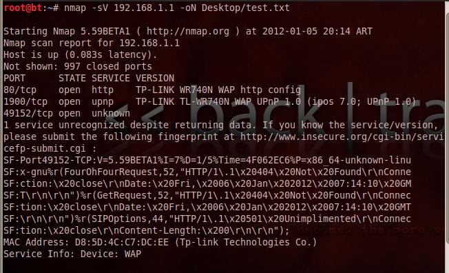 Mapeo de redes con Nmap 22
