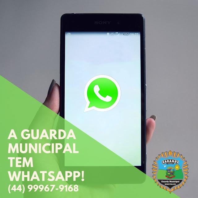 Guarda Municipal de Sarandi (GMS) implantou o atendimento pelo aplicativo WhatsApp