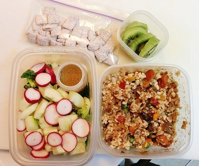 salad and rice mix