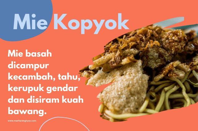 mie kopyok khas Semarang