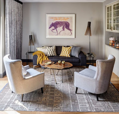 Living room focal point example