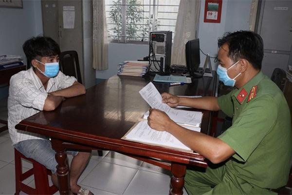 Công an làm việc với Nguyễn Trí Thịnh.