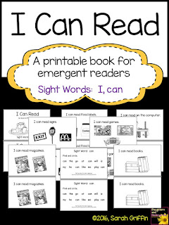 https://www.teacherspayteachers.com/Product/Sight-Word-Reader-I-Can-Read-BW-722491