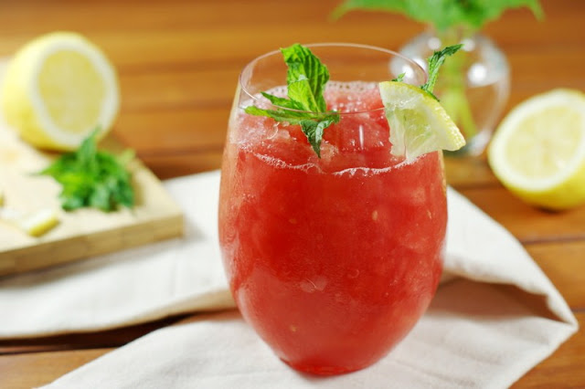 Watermelon-Moscato Slush