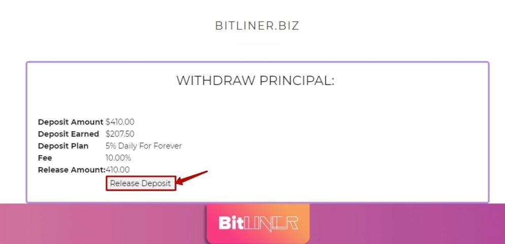 Досрочный вывод в Bitliner 2