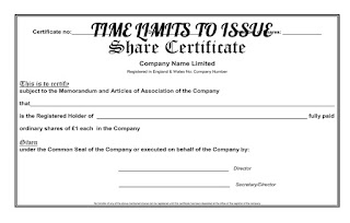 TIME-LIMIT-ISSUE-SHARE-CERTIFICATE