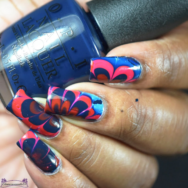 Watermarble Wedndesdays: Red & Blue
