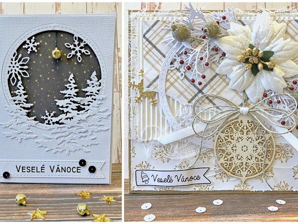 PAPER GARDEN ... inspirace z vánočního kitu Zlaté a veselé