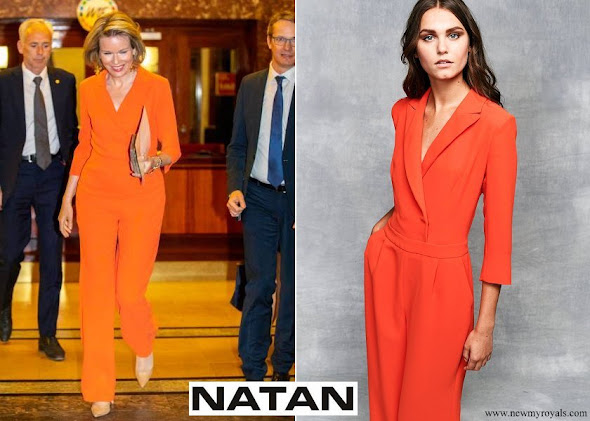 Queen Mathilde wore Natan Jumpsuit