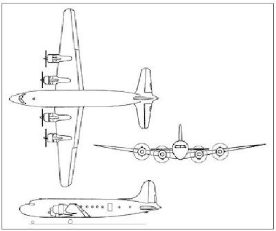 Douglas C-54 Skymaster taslak.