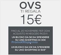 Logo OVS Grande Freddo: buoni sconto da 5€ e da 10€