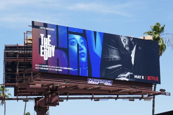 The Eddy series premiere billboard