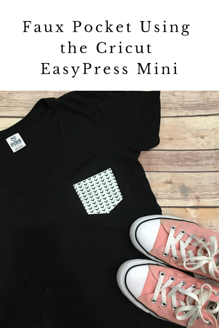 The Cricut EasyPress Mini is the newest addition to the EasyPress family and I am putting it to work and showing you how to add a faux pocket to a plain t-shirt using patterned iron on.