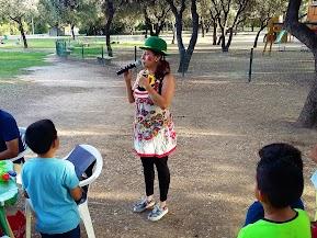 Cumpleaños en el parque del Alamillo