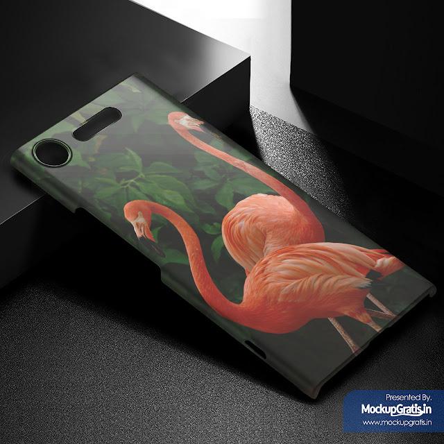 Mockup Custom Case Sony Xperia XZ1 Gratis File PSD
