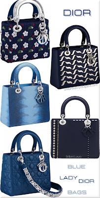 ♦Dior Lady Dior Blue Bag Collection 2016 #bags #dior #ladydior #brilliantluxury
