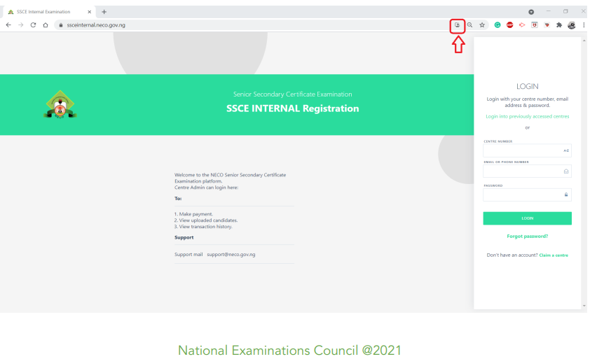 NECO SSCE Internal Online App Installation & Registration Guidelines