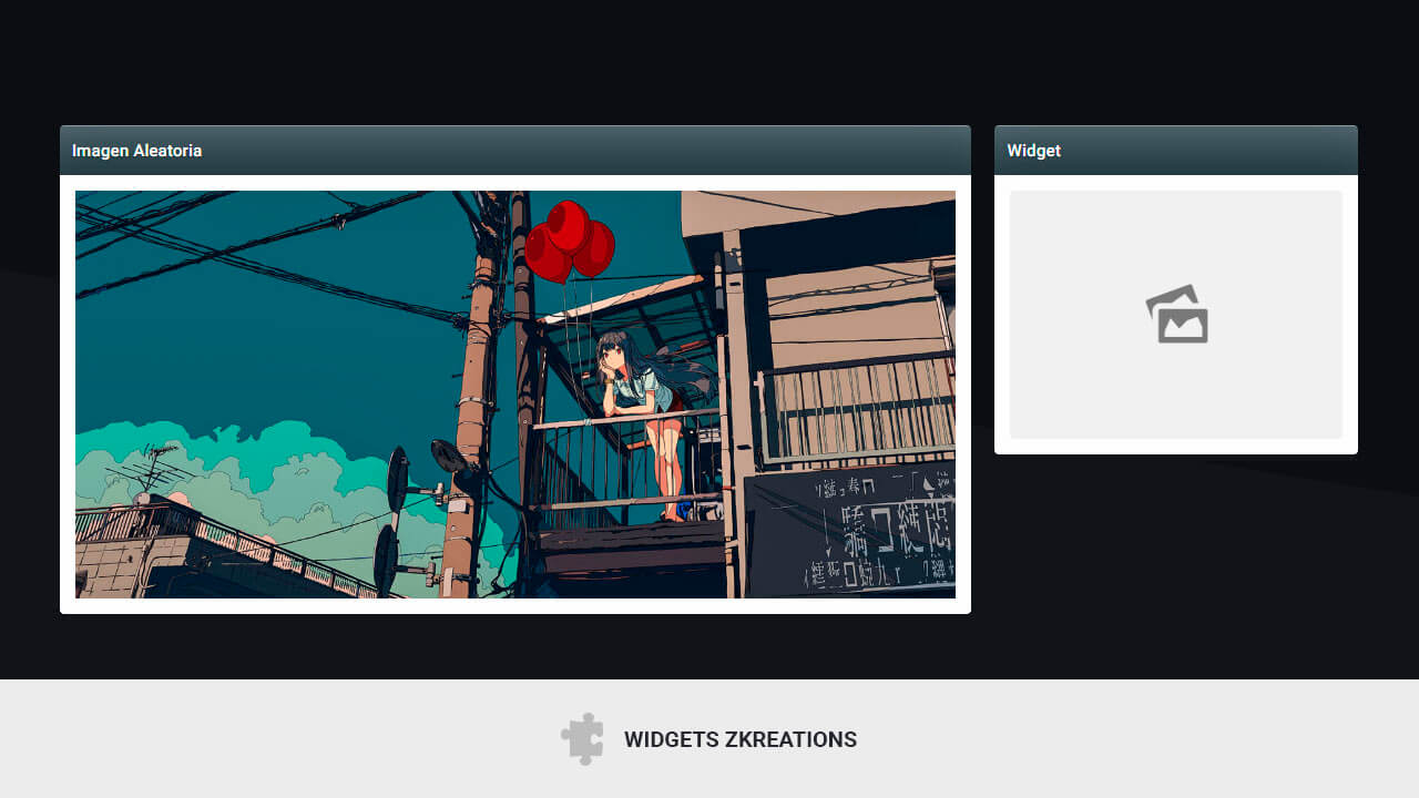 Widget de imágenes aleatorias