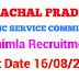 Himachal Pradesh Public Service Commission Recruitment Advertisement No. 10 /2019