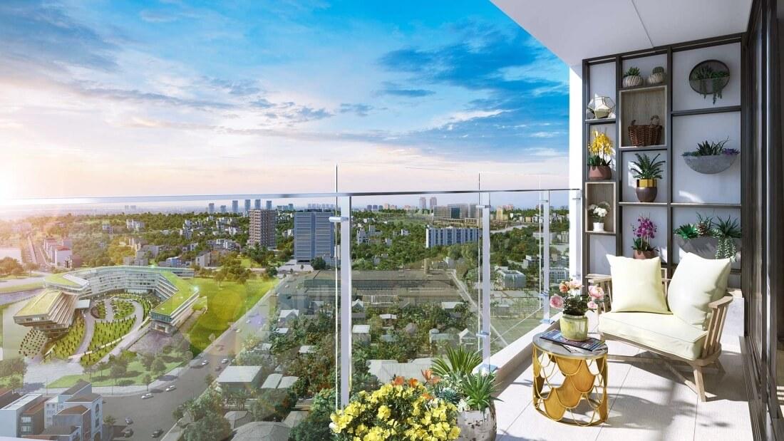 Tầm nhìn rộng mở căn hộ chung cư