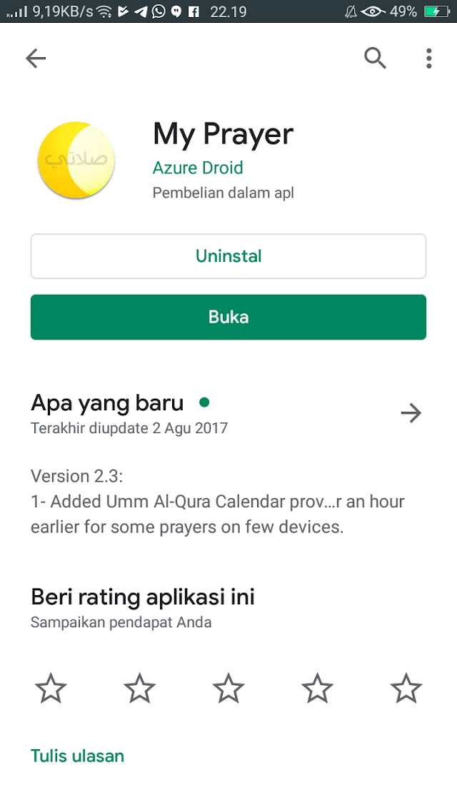 Review Aplikasi My Prayer