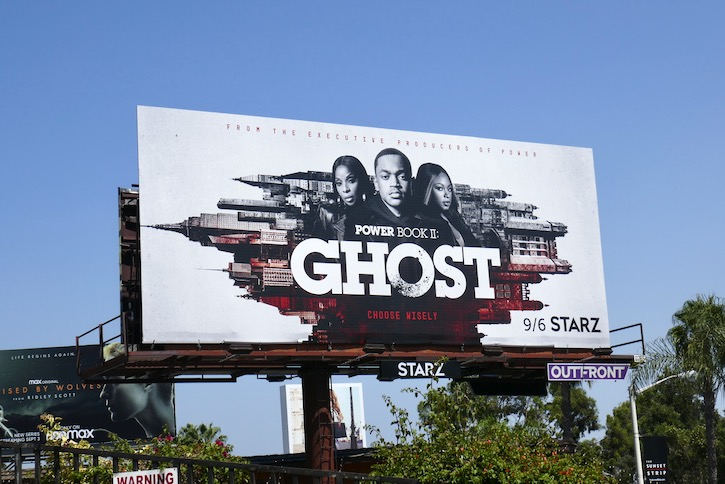 Power Book II Ghost Starz billboard