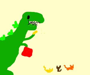 Dinosaur Eating Chips