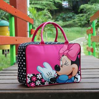 Travel Bag Anak Minimouse Bunga Kanvas