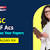UPSC CAPF Assistant Commandants Previous Year Papers : Download PDF