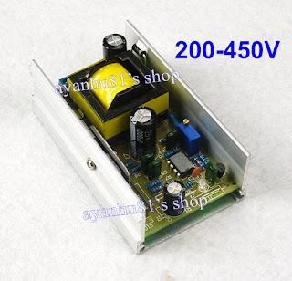 DC 12V 24V to DC 200-450V 70W High Voltage Boost Converter Step Up Power Supply