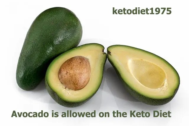Avocado is allowed on the Keto Diet