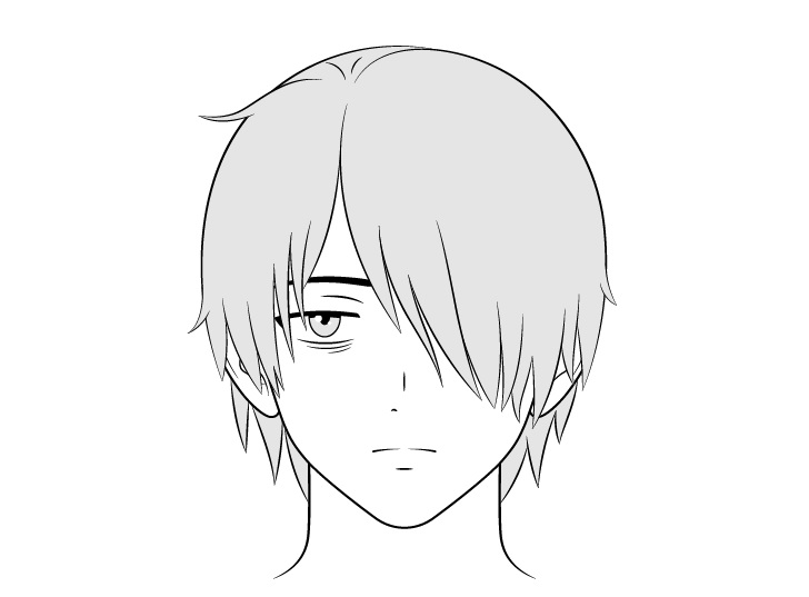 Gambar wajah pria penyendiri anime