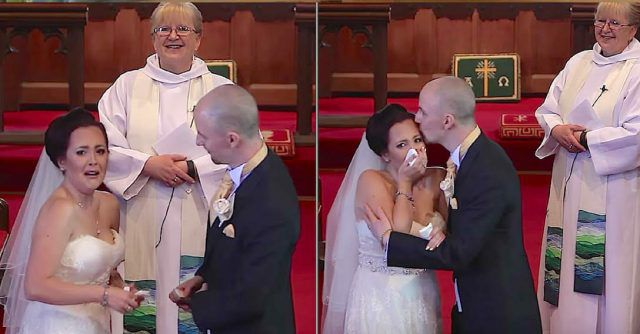 Bride Sees Unexpected Wedding Guest And Breaks Into Tears