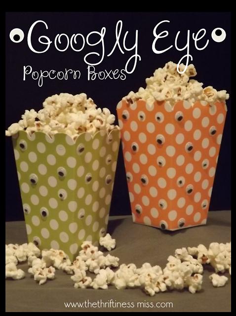 Googly Eye Popcorn Boxes