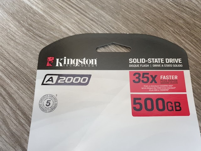 Kingston A2000 NVMe M2 SSD - consumer opinion