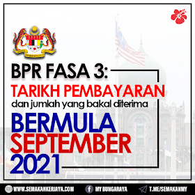 BPR Fasa 3: Tarikh Pembayaran & Jumlah Yang Bakal Diterima Bermula September 2021