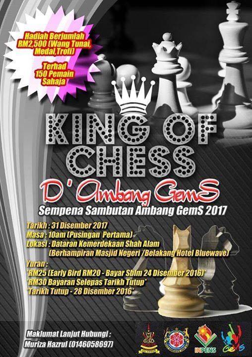 King of Chess (31/12/16) @ Dataran Kemerdekaan Shah Alam