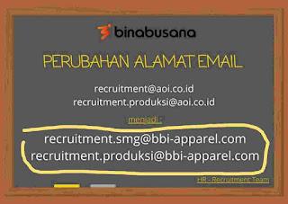 Alamat email PT Bina Busana Internusa