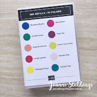Jo's Stamping Spot - 2018 Colour Revamp Ink Refill Case Inserts - In Colors