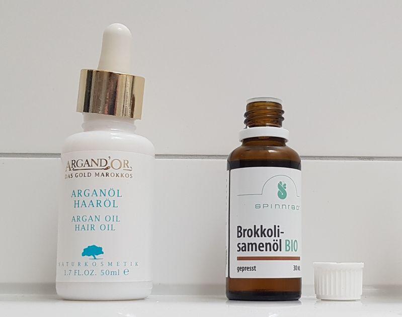 Arganöl-Brokkolisamenöl-Haarglanz ohne Silikone