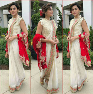 Actress taapsee pannu in rashi kapoor kolkata based designer