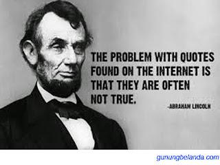 Apakah Abraham Lincoln adalah presiden Negara Kanda