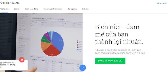 Hướng dẫn kiếm tiền cho trang web với Adsense của google