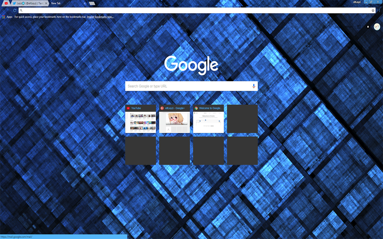 LEAFYISHERE SQUARE | Abstract Fractal Theme FOR Google Chrome