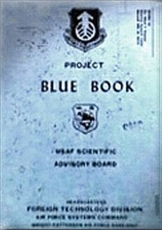 Here's an actual image of the Project Blue Book.