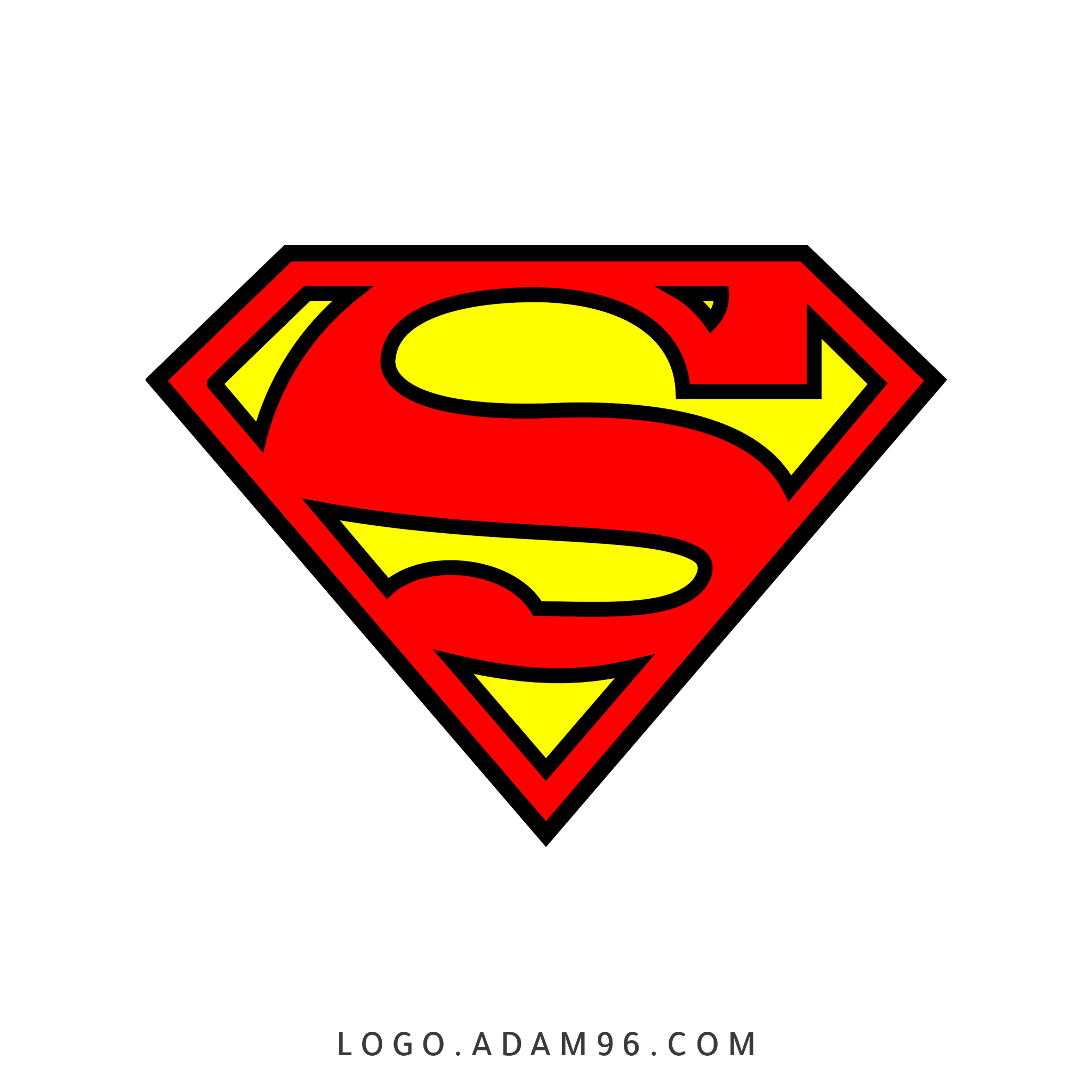 تحميل شعار سوبرمان لوجو شفاف Logo Superman PNG